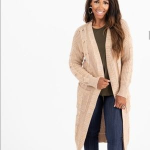 Agnes & Dora Heathered Camel Dreamy Duster